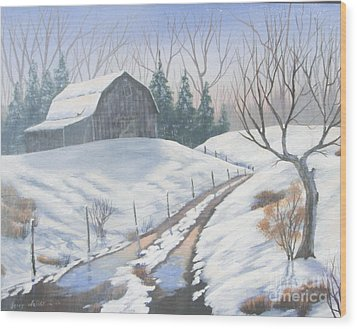 Cold Country Wood Print