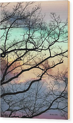 Cold Hearted Bliss Wood Print by Christina Rollo