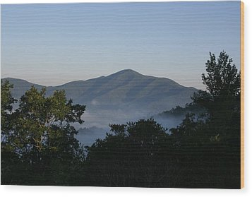 Cold Mountain North Carolina Wood Print