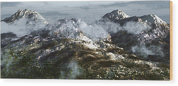 Cold Mountain Wood Print by Richard Rizzo
