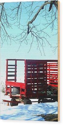 Cold Red Alone Wood Print by Cyryn Fyrcyd