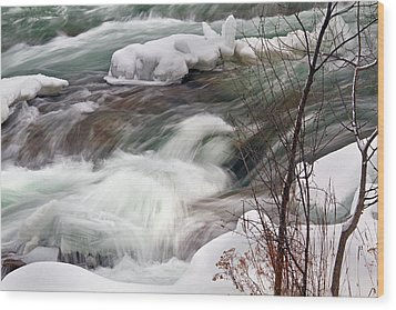 Cold Rush Wood Print by Timothy McIntyre