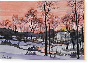Cold Sunset Wood Print by Art Scholz