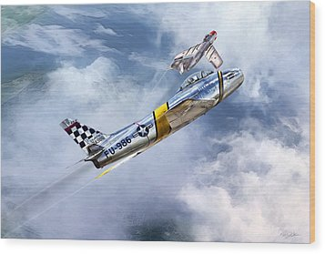 Cold War Clash Wood Print by Peter Chilelli