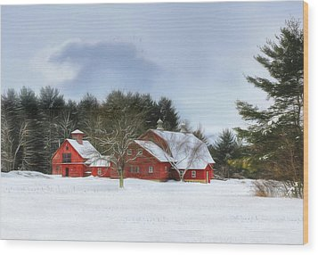 Cold Winter Days In Vermont Wood Print