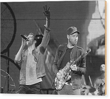 Coldplay 14 Wood Print