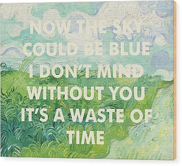Coldplay Lyrics Art Print Wood Print