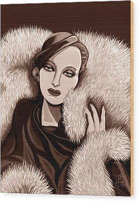 Colette In Sepia Tone Wood Print by Tara Hutton