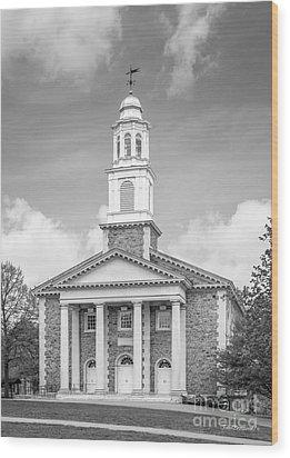 Colgate University Chapel House Wood Print by University Icons