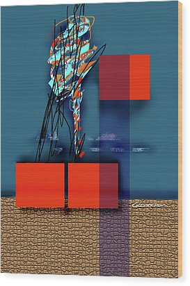 Collapsing Ego Wood Print by Dean Gleisberg