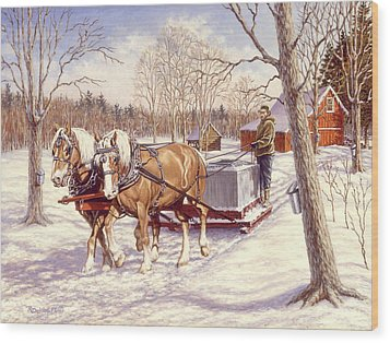 Collecting The Sap Wood Print