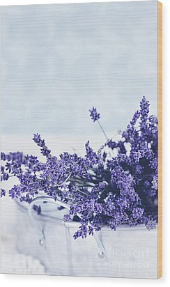 Wood Print featuring the photograph Collection Of Lavender  by Stephanie Frey