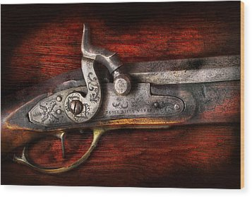 Collector - Gun - Rifle Works  Wood Print by Mike Savad