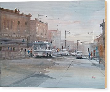 College Avenue - Appleton Wood Print