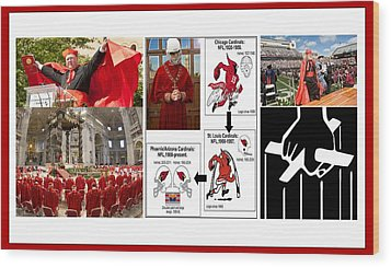College Of Cardinals Wood Print