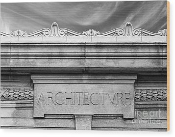 College Of Wooster Frick Hall Architecture Wood Print by University Icons