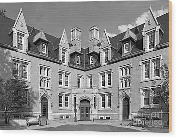 College Of Wooster Kenarden Lodge Wood Print by University Icons