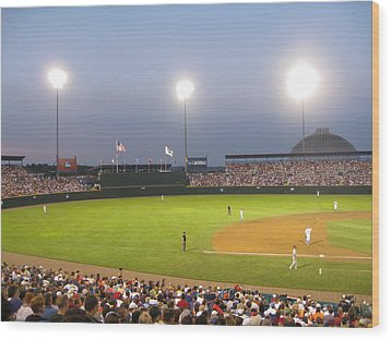 College World Series 2010 Wood Print