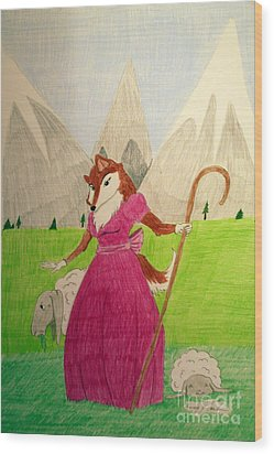 Collie Bo Peep Wood Print