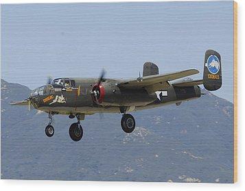 Collings Foundation North American B-25j Mitchell Tondelayo Wood Print by Brian Lockett