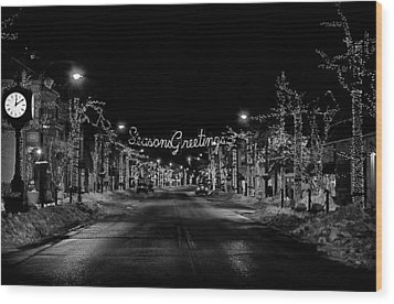 Collingswood Christmas Wood Print by Shawn Colborn
