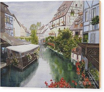 Colmar Canal Wood Print