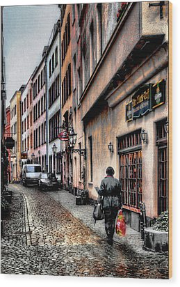 Cologne Alstadt Wood Print by Jim Hill