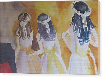 Colombian Wedding Party Two Wood Print