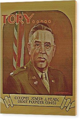 Colonel Joseph J. Healy Wood Print