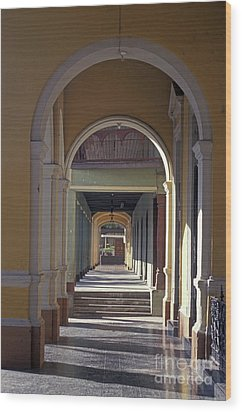 Colonial Arches Granada Nicaragua Wood Print by John  Mitchell