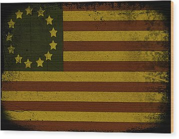 Colonial Flag Wood Print by Bill Cannon