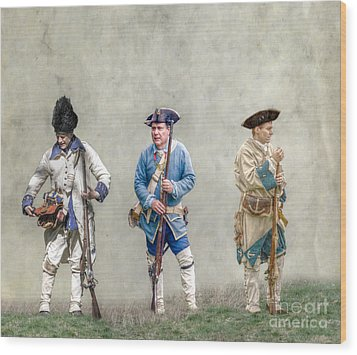 Colonial French Soldier Review Wood Print by Randy Steele