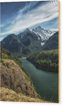 Colonial Peak Towers Over Diablo Lake Wood Print