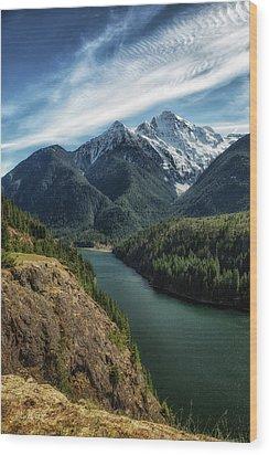 Colonial Peak Towers Over Diablo Lake Wood Print