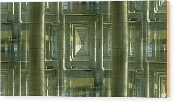 Colonnade Park Seattle Wood Print by Tim Allen