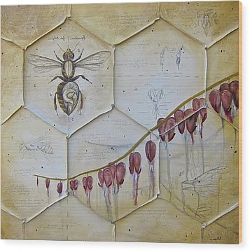 Colony Collapse Disorder Wood Print by K Llamas