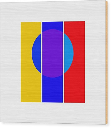 Color And Form Wood Print by Charles Stuart