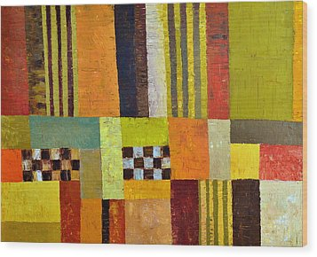 Color And Pattern Abstract Wood Print by Michelle Calkins