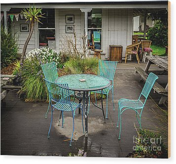 Wood Print featuring the photograph Color At Cafe by Perry Webster