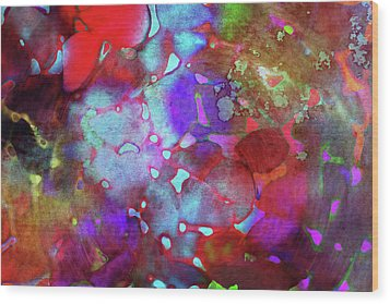 Color Burst Wood Print by AugenWerk Susann Serfezi