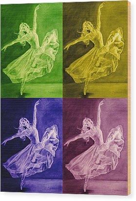 Color Dancer Wood Print