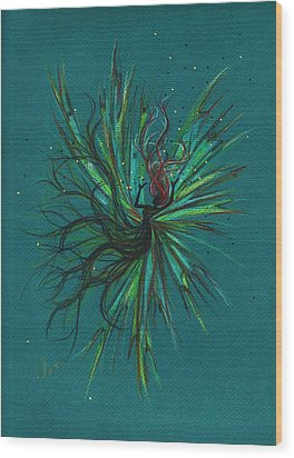 Wood Print featuring the drawing Color Fall by Dawn Fairies