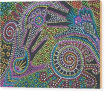 Color Fantasy Wood Print by Vijay Sharon Govender