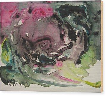 Color Fever 115 Wood Print by Seon-Jeong Kim