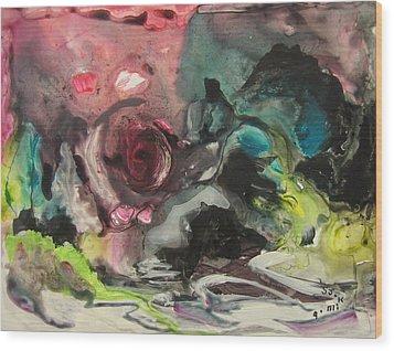 Color Fever 120 Wood Print by Seon-Jeong Kim