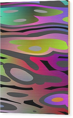 Wood Print featuring the digital art Color Fun 1 by Jeff Iverson