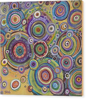 Color Me Happy Wood Print by Tanielle Childers