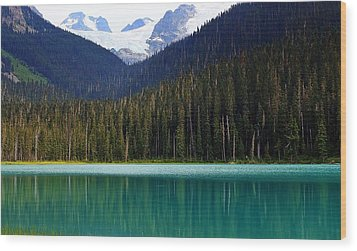 Lower Joffre Lake Wood Print by Heather Vopni