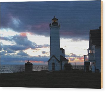 Color Of December, Tibbetts Point Lighthouse Wood Print