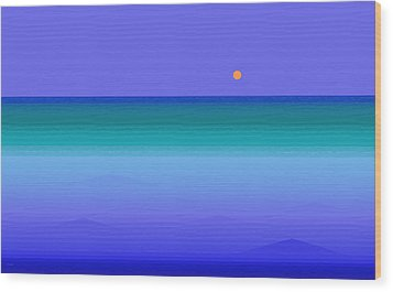 Wood Print featuring the digital art Color Of Water by Val Arie